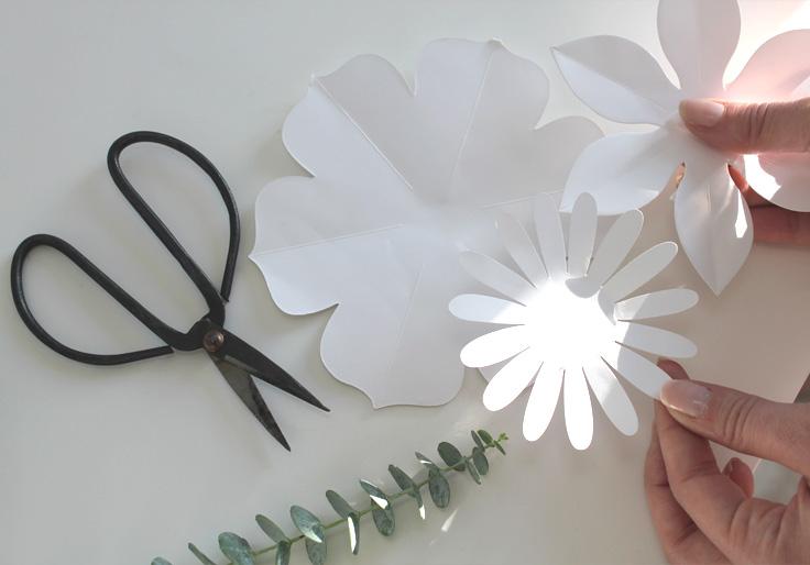 Diy cr ez facilement vos fleurs en papier la d licate parenth se diy d co et inspiration - Diy fleur en papier ...