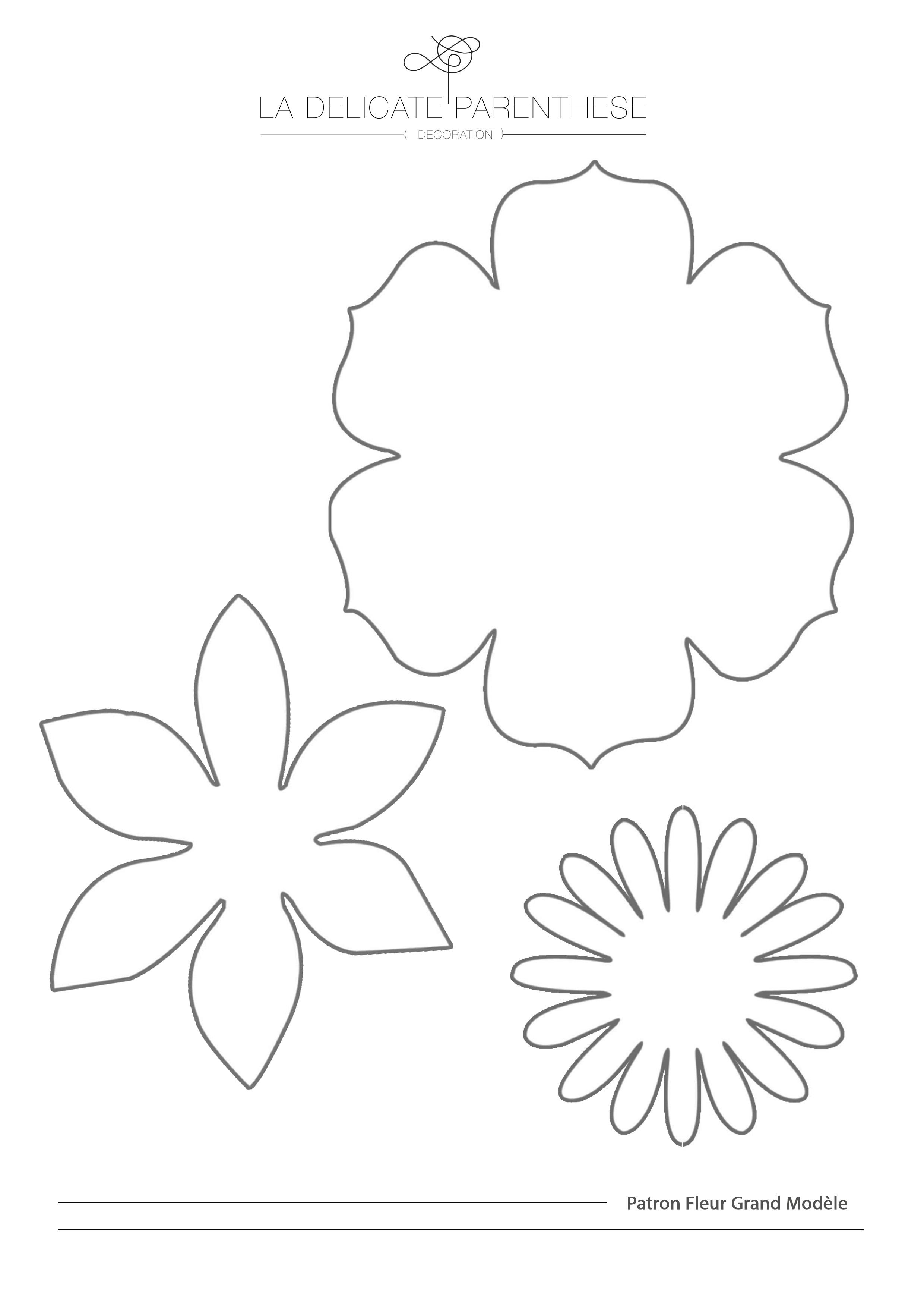 Diy cr ez facilement vos fleurs en papier la - Fleurs a dessiner modele ...
