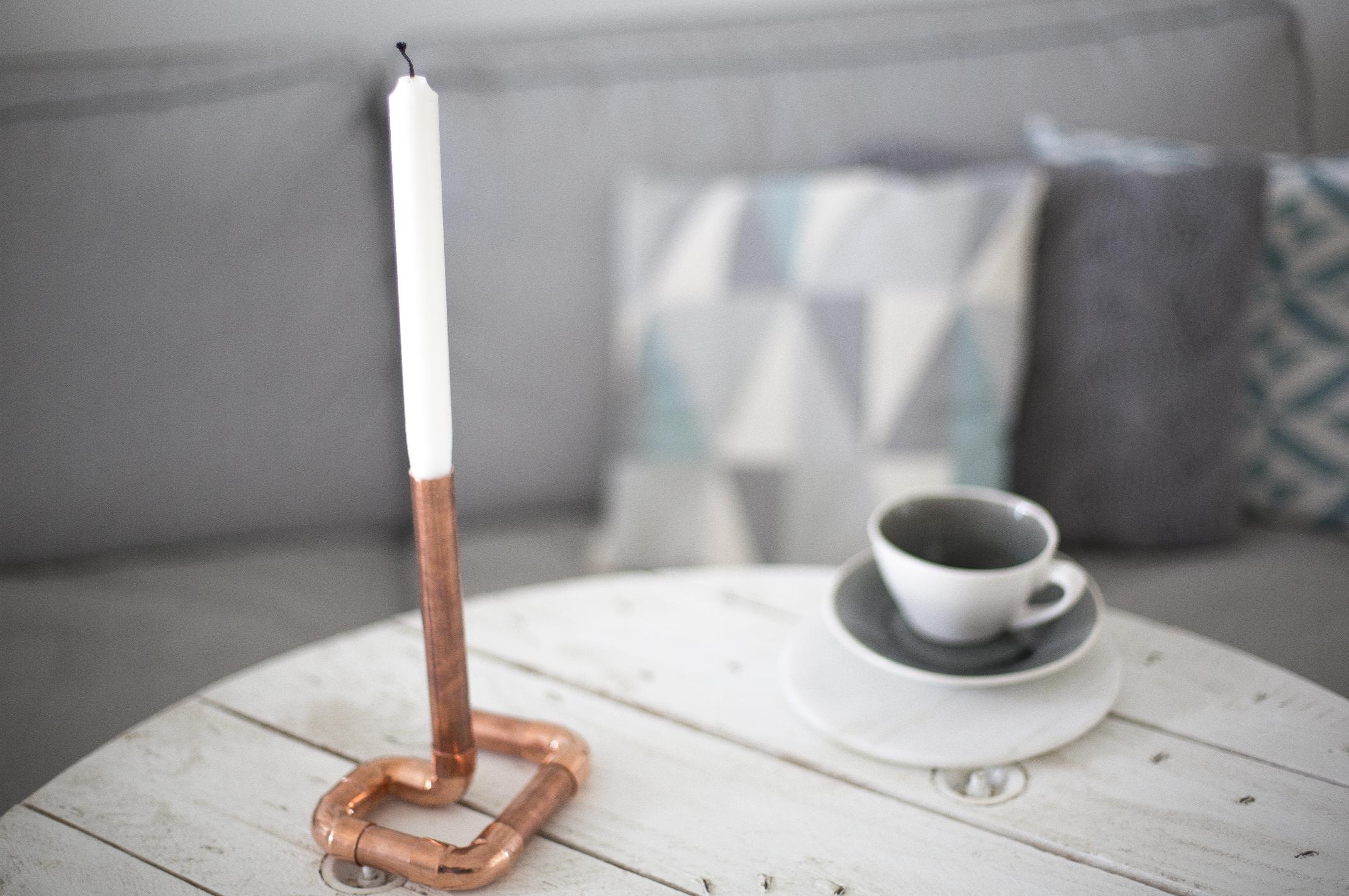 creation bougeoir un an diy deco inspiration cuivre la d licate parenth se diy d co et. Black Bedroom Furniture Sets. Home Design Ideas